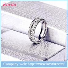 Jewelry pave diamond rings titanium steel wedding ring men ring stainless