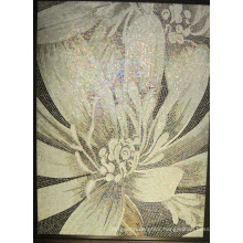 Flower Pattern Glass Mosaic Pattern Wall Tile (HMP671)
