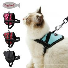 Produtos novos reflexivos para o colar macio do animal de estimação do chicote de fios do gato e o jogo da trela