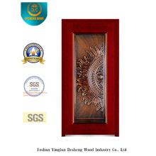 Puerta de acero de seguridad para la entrada con arte de hierro (b-8002)