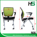 Modern color customized mesh folding task chair with wheels
