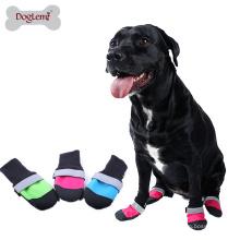 3 Couleur Pet Shoes Étanche Oxford Quilt Haute Anti Slip Cuir Semelle Bottes Pour Chiens et Chiot