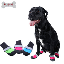 3 Color Pet shoes Waterproof Oxford Quilt Upper Anti Slip Leather Sole Dog Boots For Dogs and Puppy