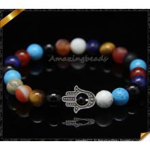 Perles de pierres précieuses colorées Hamsa Charms Fashion Bracelets (CB0109)