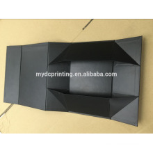 Black gold foil custom magnetic folding boxes with matt lamination