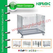 Conteneur de cage en maille de stockage empilable