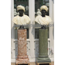 Estatua de la escultura del busto con la piedra arenisca de la piedra caliza del granito de mármol de piedra (SY-S316)