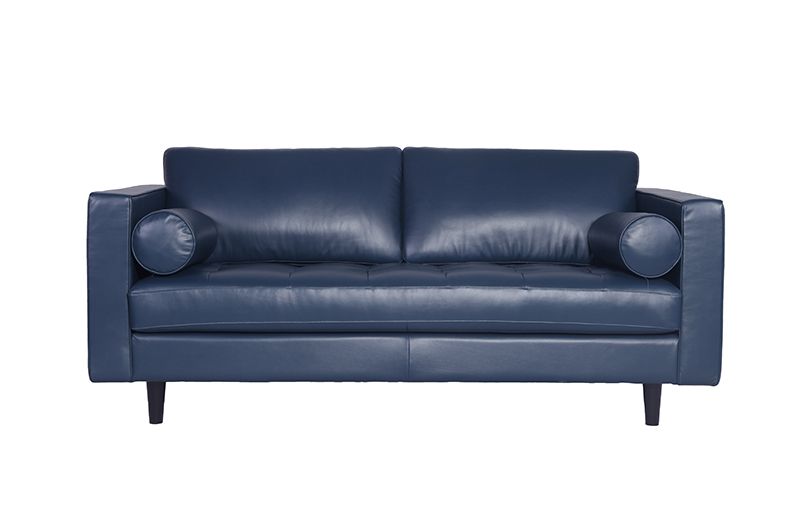 Blue-leather-Sofa