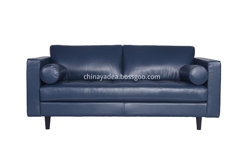Blue-leather-Sofa