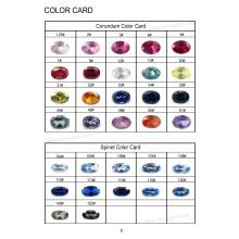 Tableau de couleurs Corindon et Spinel