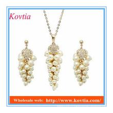 Ensemble de bijoux fantaisie à prix réduit en dobai en or plaqué imitation perle