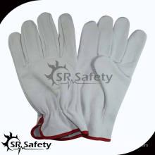 SRSAFETY полный коровье зерно leahter перчатки / лучшие качества вождения кожаные перчатки, поставщик фарфора