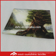 wholesalw custom sublimation printed microfiber fabric for clean