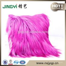 Moda color rosa sofá cabra piel cojín decoración del hogar