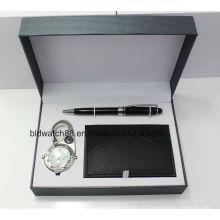 Conjuntos de relógio de presente para homem com mosquetão
