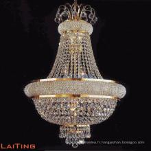 Pendentif vintage en cristal doré lustre en cristal
