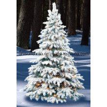 Árbol de Navidad flocado en diverso tamaño con la luz del LED (fábrica 20years)