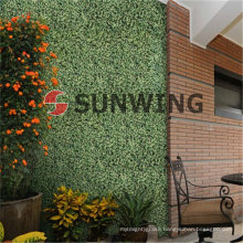 Artificial box hedge wall plastic leaf Synthetic hedge boxwood mat We also accept OEM, timely delivery and quality assurance.