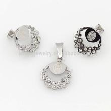Dignité argent cristal dames définit bijoux, bijoux de luxe définit vente chaude
