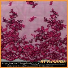 2016 Wholesale Africa Lace Fabric Design Robe de mariée et mode maison No.CA255CB-1