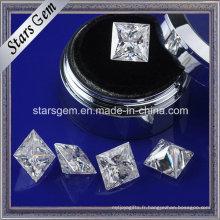 Forever Brilliant Princess Cut Moissanite fabrication de bijoux