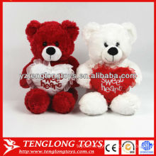 Custom couple plush bear toy love stuffed bear toy for valentines day gifts