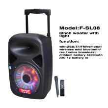 Профессиональный мультимедийный динамик с микрофонным входом F85D