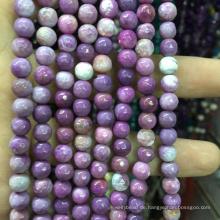 Halbedeledelstein 4mm facettierten natürlichen lila lose Perlen Edelstein Stein