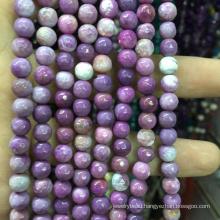 semi precious gemstone 4mm Faceted Natural Purple Loose Beads Gemstone Stone