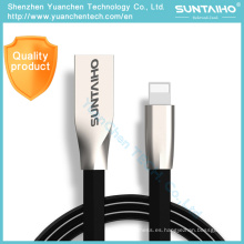 Cable de carga rápido del cable de datos del USB de la aleación del cinc para el iPhone