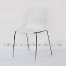 Стул PP пластичный с Хромовой сталью для ног корт (СП-UC505)