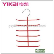 PVC revestido metal gravata cabide