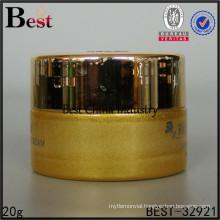 gold colored custom glass cream jar skincare container