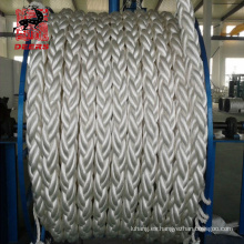 Cuerda de fibra de polietileno de peso molecular ultraalto Cuerda UHMWPE Cuerda de amarre marina trenzada