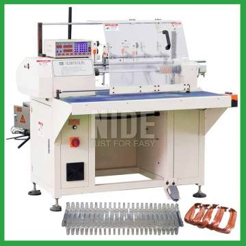 Air conditioner motor automatic coil winding machine