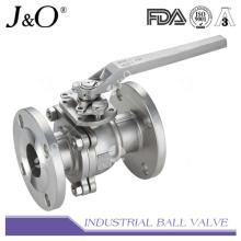 Válvula de esfera de flange com 2PC com almofada de montagem ASME 150 libras
