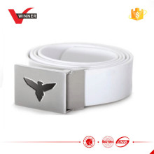 Solid Rectangle Silicone Belt with eagle logo embossed