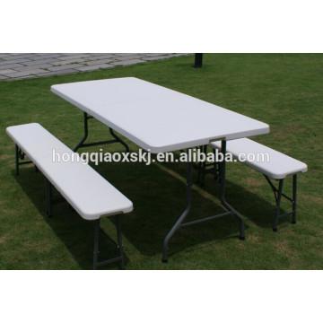 6FT Plastic Folding Bench Garden Bench