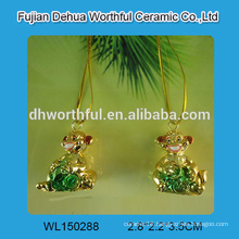 Handmade hanging electroplate polyresin animal statues with monkey design