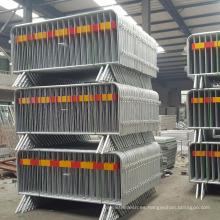 Barreras desmontables de alta calidad del control de muchedumbre del metal de la pierna (certificado ISO 9001 de fábrica)