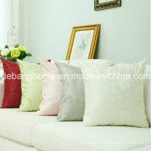 Sofá de cetim de seda estilo europeu / almofada de tecido Jacquard para escritório