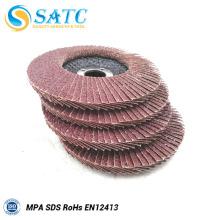 fabricado na China Alta eficiência abrasiva vs flap disco fabricado na China