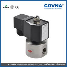Válvula solenoide de alta presión de venta caliente de la CC 12V para el gas