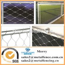 7X7 struktur fisch fram seil drahtgeflecht edelstahl drahtseil mesh net
