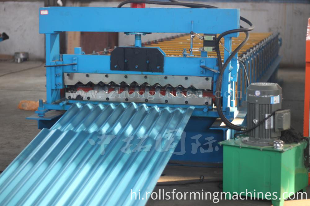 Corrugated board roll forming machine (19)