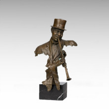 Büsten Messing Statue Oboe Musiker Dekoration Bronze Skulptur Tpy-487