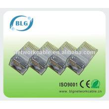 BLG FTP Lan cable RJ45 cabeza de cristal recto