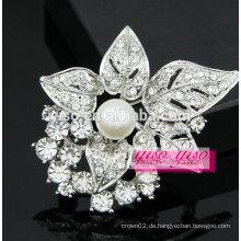 Mode Perle Blume und Blatt Rhinestone erste Broschen