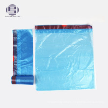 Blue color drawstring waste trash bags 55 gallon