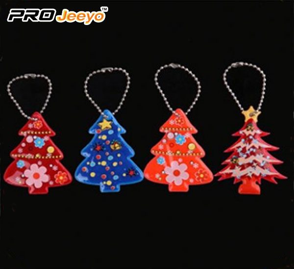 Reflective Safety Christmas tree Key Chain RV-213B 4